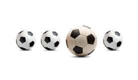 piłki piłka nożna Zdjęcie Stock