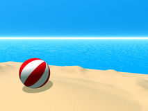 piłki plaża Obrazy Stock