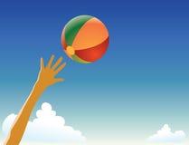 piłki plaży bawić się Obraz Stock