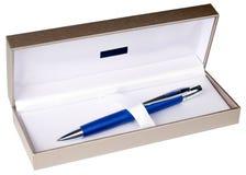 piłki pudełka odosobniony pióra punktu biel Obrazy Stock
