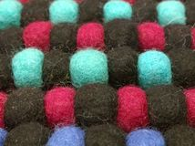 Piłki wełna kolory Fotografia Stock