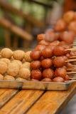 piłki zgłębiają smażącego ryżowego sezamu Fotografia Royalty Free