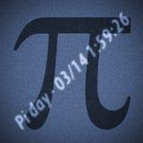 Pi数字天 免版税库存照片