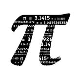 pi标志 免版税库存照片