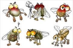 μύγες κινούμενων σχεδίων &pi Στοκ Εικόνες