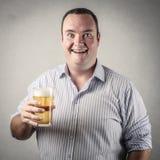 Pić bier Fotografia Stock