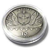 Pi?ce de monnaie comm?morative argent?e de l'Ukraine photo libre de droits