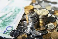 pi?ces de monnaie en cuivre photo libre de droits