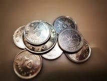 Pi?ces de monnaie de l'Oman Argent de l'Oman images stock