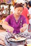 Pięciodniowy rynek, Inle jezioro Zdjęcie Royalty Free