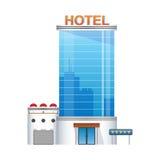 Pięciogwiazdkowa hotelowa buduje 3d ikona Obrazy Royalty Free