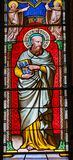 Pi da catedral de Thadeus Jude Apostle Stained Glass Baptistery de Saint imagens de stock