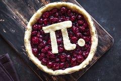 Pi Dag Cherry Pie royalty-vrije stock afbeeldingen