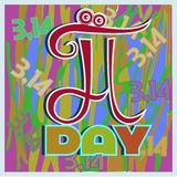 Pi day royalty free illustration