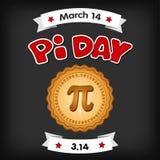 Pi Day, March 14, chalk board background stock illustration
