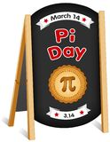 Pi Day, March 14, Chalk board Sign, Folding Easel royalty free illustration