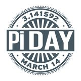 Pi Day, March 14, Royalty Free Stock Photo