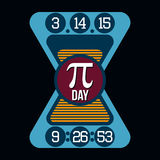 Pi Day T-shirt Typography Graphics, Vector Stock Image