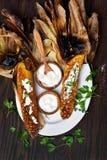 Épi de maïs grillé par BBQ Photos libres de droits
