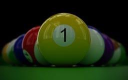 piłek billiard set Zdjęcie Royalty Free