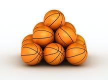 piłek koszykówki sterta Fotografia Royalty Free
