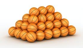 piłek koszykówki sterta Zdjęcie Stock
