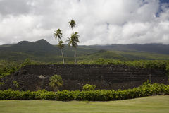 Pi'ilanihale Heiau Havaí Imagem de Stock Royalty Free