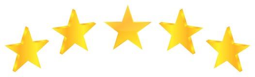 Pięć ilości premii Gwiazdowy produkt Obrazy Royalty Free
