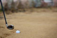 piłka bunker golfa piasku Fotografia Stock