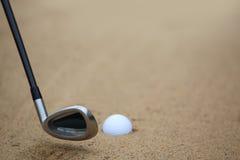 piłka bunker golfa piasku Obrazy Royalty Free