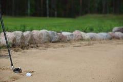piłka bunker golfa piasku Obrazy Stock