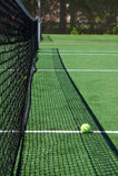 piłka dworski eleganckim tenis netto Fotografia Stock