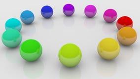 piłka kolor Fotografia Stock