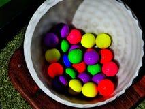 piłka kolorowe golf Fotografia Stock