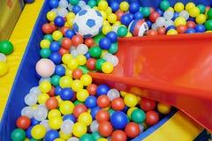 piłka kolorowe plastiku Fotografia Stock