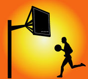 piłka koszykowy gracza Obraz Stock
