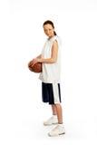piłka koszykowy samica gracza Zdjęcia Royalty Free
