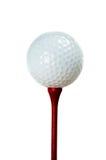 piłka trójnik golfowy czerwony Obraz Stock