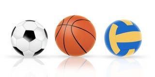 piłka trzy royalty ilustracja