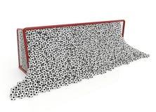 Piłka w bramie ilustracja wektor