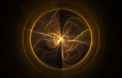 piłka w fractal abstrakcyjne Fotografia Stock