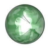 piłka w shamrock Obrazy Royalty Free