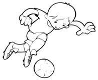 piłkarz royalty ilustracja