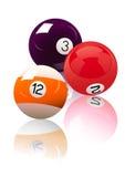 piłki billiard trzy royalty ilustracja