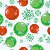 piłki color77 ornamentu bezszwowy xmas Zdjęcia Stock