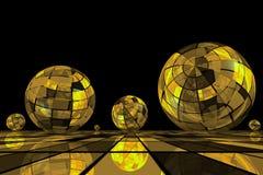 piłki futurystyczne Zdjęcia Royalty Free