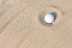 piłki golfa piasek Zdjęcia Royalty Free