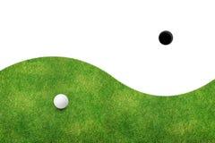 piłki golfowy trawy zieleni biel Zdjęcie Stock