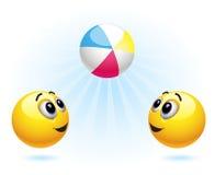 piłki smiley Obraz Stock