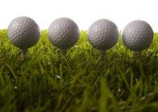 piłki trawy golfowy trójnik Obrazy Stock